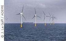 Exemple d'éoliennes en mer